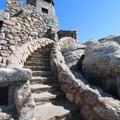 The historic fire tower at the top of Black Elk Peak.- Black Elk Peak via Willow Creek