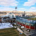 A view of the rink and baseball stadium.- Downtown Reno Ice Rink