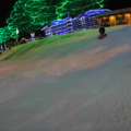 Sledding down the hill in Front Street Park, Leavenworth.- Front Street Park Sledding