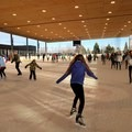 Skaters take to the ice at The Pavilion in Bend.- The Pavilion Ice Skating
