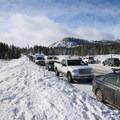 Parking for Tahoe Meadows is along the highway.- Tahoe Meadows: Ophir Creek