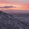 Beautiful views along the Bells Canyon Snowshoe.- Bells Canyon Snowshoe