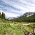 A view out into the center of the Johnston Creek valley.- The Ink Pots