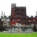 The south side of Hatley Castle + Park.- Hatley Castle + Park National Historic Site