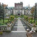 The north side of Hatley Castle + Park.- Hatley Castle + Park National Historic Site