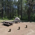 Typical campsite at Indian Ford Campground.- Indian Ford Campground