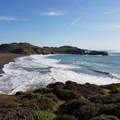 Rodeo Beach from the Coastal Trail.- Fort Cronkhite Loop: Coastal, Wolf Ridge + Miwok Trails