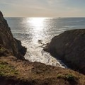 A small inlet along the Coastal Trail.- Fort Cronkhite Loop: Coastal, Wolf Ridge + Miwok Trails