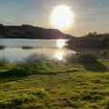 Rodeo Lagoon from the Miwok Trail.- Fort Cronkhite Loop: Coastal, Wolf Ridge + Miwok Trails