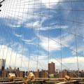 View north of Two Bridges from the Brooklyn Bridge.- Brooklyn Bridge National Historic Landmark