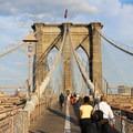 View looking southeast on the Brooklyn Bridge.- Brooklyn Bridge National Historic Landmark