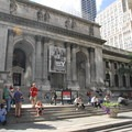 New York Public Library on the east end of Bryant Park.- Bryant Park