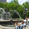 1871-built fountain designed by Jacob Wrey Mould in City Hall Park.- City Hall Park