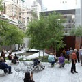 The MoMA courtyard in New York City.- Museum of Modern Art (MoMA) Courtyard