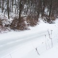 The frozen canal.- Canal Trail