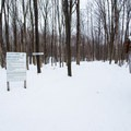 The trail register is located right at the parking area.- Egypt Road Ski Trails