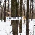 Great signage along the trails.- Skyfields Ski Trails