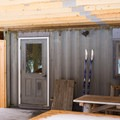 The warming hut.- Skyfields Ski Trails