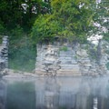 The ruins of a former bridge.- Black River: Lyons Falls to Beeches Landing