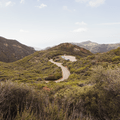 Looking back at the parking lot.- Sandstone Peak, Circle X Ranch