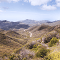 Valleys stretching to the Pacific Ocean.- Sandstone Peak, Circle X Ranch