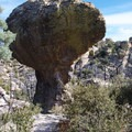Volcanic rock formation in Chiricahua National Monument.- Big Loop Trail