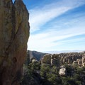 From a ledge on the other side of the Grotto in Chiricahua National Monument.- Big Loop Trail