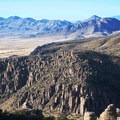 Chiricahua Mountains off in the distance.- Big Loop Trail