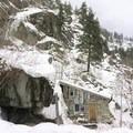 Cabin on the mountain.- Rustic Stone Cabin