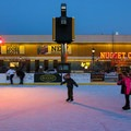 Located across from the Nugget Casino.- Arlington Square Ice Rink