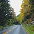 The drive along Newfound Gap Road to reach the trailhead is very scenic and beautiful.- Chimney Tops