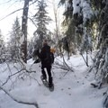 The route is difficult to navigate at times.- Mardee Lake Snowshoe