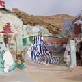 Entrance to the structure.- Salvation Mountain