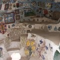 A room inside the structure.- Salvation Mountain