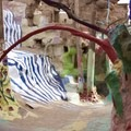 Inside the structure. - Salvation Mountain