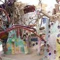 Inside the structure.- Salvation Mountain