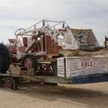 Art-filled tractor.- Salvation Mountain