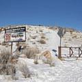 Trailhead for Little Mountain.- Little Mountain Snowshoe