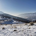 Looking back from atop the first hill, down toward Emigration Canyon.- Little Mountain Snowshoe