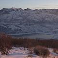 Sunset along the Little Mountain Trail.- Little Mountain Snowshoe