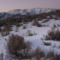 Sunset at Little Mountain.- Little Mountain Snowshoe