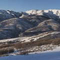 A panorama from the Little Mountain Trail.- Little Mountain Snowshoe