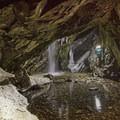 Inside the Donut Falls Cave.- Donut Falls Snowshoe