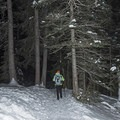 In winter, snowshoes or microspikes are recommended when making the trek to Donut Falls.- Donut Falls Snowshoe