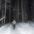 Enjoying a winter hike to Donut Falls.- Donut Falls Snowshoe
