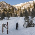 The Mill D North Trailhead.- Reynolds Gulch Snowshoe