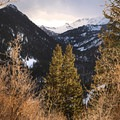 You can actually see all the way back into Cardiff Fork and Mount Superior (11,132 ft).- Reynolds Gulch Snowshoe