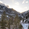 Panoramic views from Reynolds Gulch.- Reynolds Gulch Snowshoe