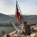 A patriotic monument at the summit of Anthony's Nose.- Anthony's Nose