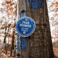 Trail marker to the summit of Anthony's Nose..- Anthony's Nose